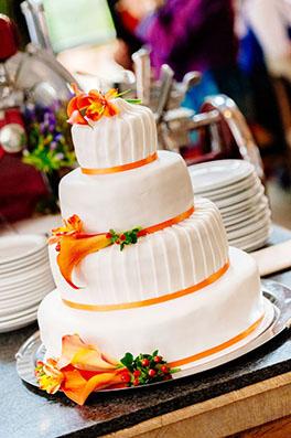 bruiloft filmen van de bruidstaart